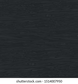 Black wood texture background. Empty natural pattern swatch template.  Vector illustration