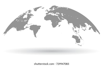 Detailed black world map mapped on stock vector royalty free black world map globe isolated vector gumiabroncs Choice Image