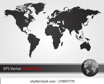 Black World Map Illustration