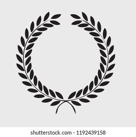 Black wreath frame design vector