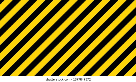 Black and yellow diagonal line striped. Blank vector illustration warning background. Hazard caution sign tape. Space for attention text .