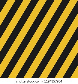 black and yellow diagonal lines seamless pattern for street background warning sign or wallpaper, label, banner etc. vector design