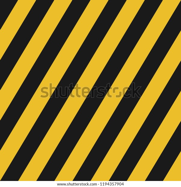 Black Yellow Diagonal Lines Seamless Pattern Stock Vector Royalty