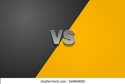 Black and Yellow Fighter Background Versus Screen, Vector Illustration.