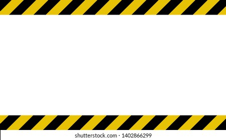 Black and yellow line striped. Caution tape. Blank warning background. warning sign. Background with space for text writing. Vector illustration