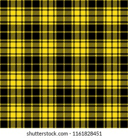 Black And Yellow Lumberjack Tartan Plaid Cloth Texture Pattern
