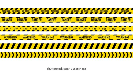 Black and yellow police stripe. Vector stock illustration
