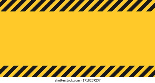 Black yellow striped banner wall Hazard industrial striped road warning Yellow black diagonal stripes Seamless pattern Vector
