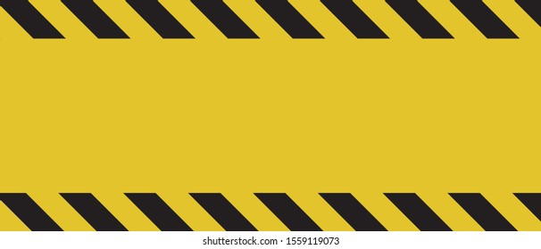 Black yellow Texture warning banner