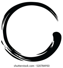 Black Zen Circle Minimalistic Vector Art