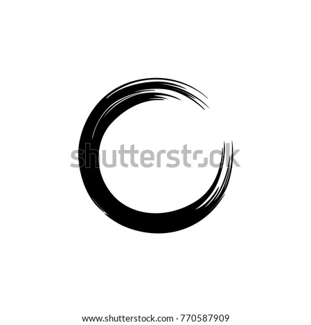 Black Zen Circle Watercolor