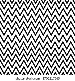 Black zigzag pattern background on a white background
