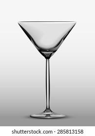Black-and-white photo-realistic Martini glass.