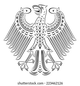 Black-and-white version of the Federal eagle Germany