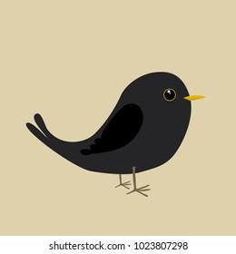 A blackbird comic illustration