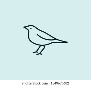 Blackbird icon line isolated on clean background. Blackbird icon concept drawing icon line in modern style. Vector illustration for your web mobile logo app UI design.