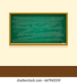 blackboard in classroom.