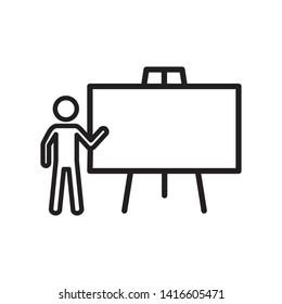 blackboard icon. logo design template