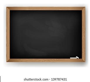 Blackboard for message chalk, vector