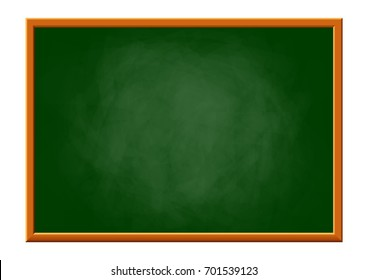 Blackboard on white background