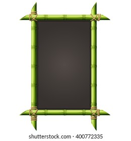 Blackboard in square bamboo frame - menu signboard