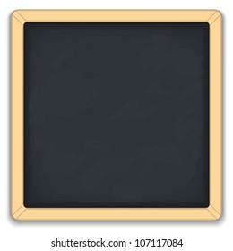 Blackboard square icon, vector eps10 illustration