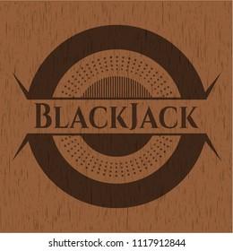 BlackJack vintage wood emblem