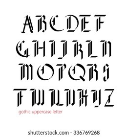 Blackletter modern gothic font. All uppercase letters