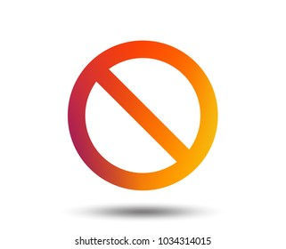 Blacklist sign icon. User not allowed symbol. Blurred gradient design element. Vivid graphic flat icon. Vector