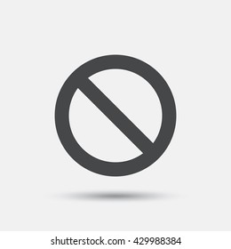 Blacklist sign icon. User not allowed symbol. Flat blacklist web icon on white background. Vector