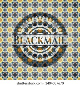Blackmail arabesque emblem. arabic decoration.