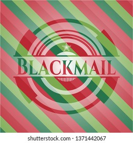 Blackmail christmas badge background.
