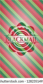 Blackmail christmas style emblem.