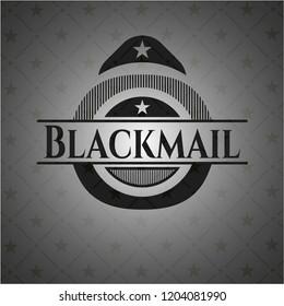 Blackmail dark icon or emblem