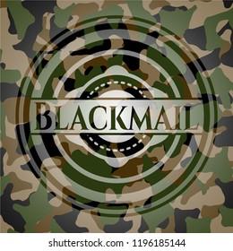 Blackmail on camo pattern