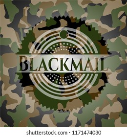 Blackmail on camouflage texture