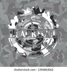 Blackmail on grey camo pattern