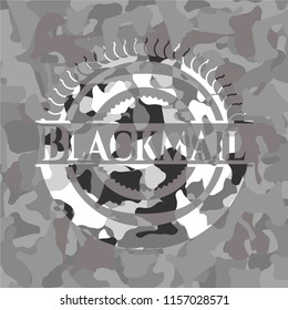 Blackmail on grey camouflage texture