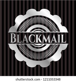 Blackmail silver shiny emblem