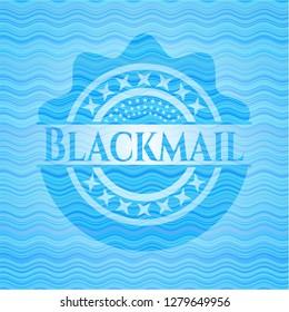 Blackmail water concept emblem.