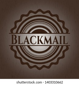 Blackmail wood icon or emblem. Vector Illustration.