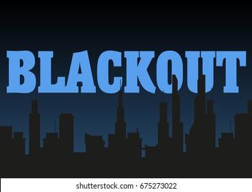 Blackout city vector illustration