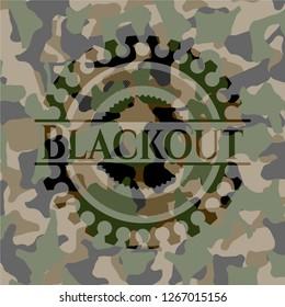 Blackout on camouflage pattern