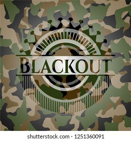 Blackout on camouflage texture