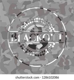 Blackout on grey camo pattern
