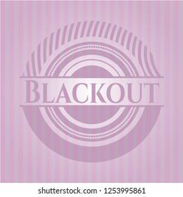 Blackout pink emblem. Retro