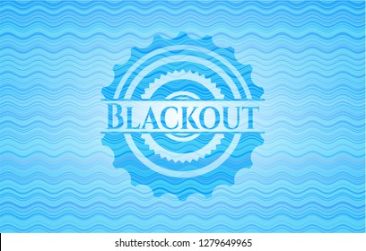 Blackout water wave representation badge background.