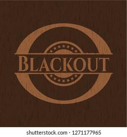 Blackout wood icon or emblem
