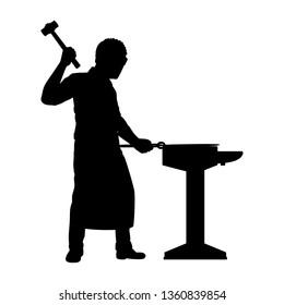 Blacksmith silhouette vector
