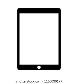 Blackt tablet with white screen icon vector eps10.